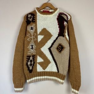 Vintage Hand-knit London Fog Sweater